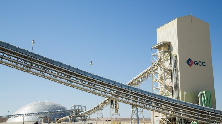 conveyor belts and dome at Pueblo Plant